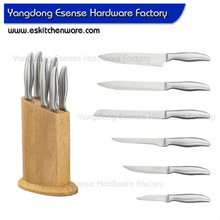 420 Stainless Steel Knife Kitchen Knife with Round Knife Block Swiss Knife Set