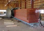 Vacuum drying kiln