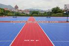 2013 High quality Hot Sale modular tile Suspended Outdoor PP Interlocking plastic Basketball Flooring