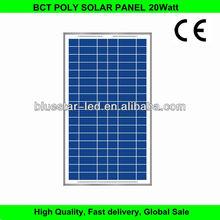 A grade cell poly 12v 20W solar panel