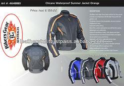 TEXTILE/ CORDURA MOTORBIKE / MOTORCYCLE ( WIND / WATERPROOF) BLACK SIZE L