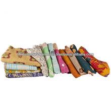 Kantha Hand-stitched Baby Blanket