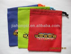 2013 new polyester printed drawstring bag