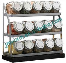 household essential Kitchen metal flavoring rack 3 tier