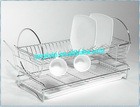 Two Tiers Compact Dish Drying Rack/decorative plate holder/Wire Compact Dish Rack