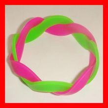New Style Amazing silicone shamballa weave bracelet