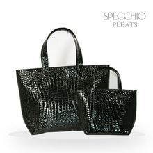 Crocodile embossed synthetic leather tote bag Woman's bag elegance bags