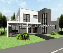 Perfect steel frame popular site-built modern prefabricated homes