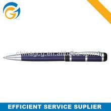 Hot!3 Color Barrel Sliver Clip Twist Metal Ball Pen