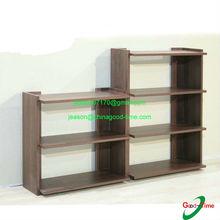 flat pack wood folding display shelf