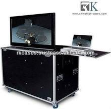 2012 latest motorized lift plasma screen road case ,