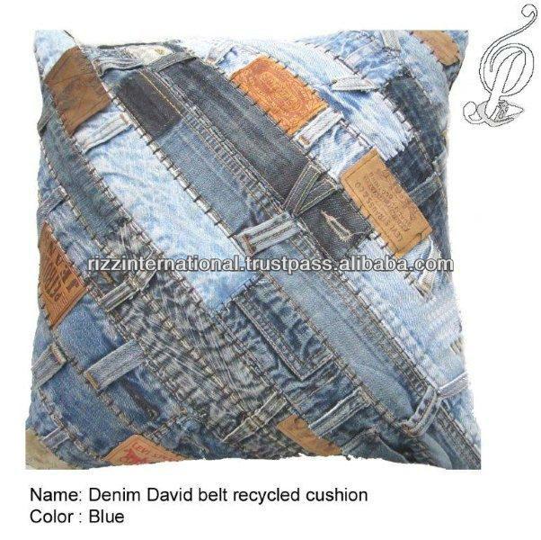 Set De Baño Reciclado:Dril de algodón de la correa reciclado cojín
