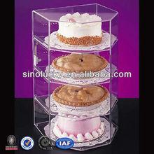 Clear Tiered Freestanding Acrylic Cake Shelf,Cake Display Shelf,Cake Rack