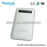 colorful high capacity portable mobile power bank 6600mah accept paypal for blackberry 8000mah as digital camera photo bank