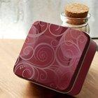 beautiful perfume tin box