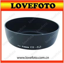 China Supplier ES-62 Bayonet Lens Hood for Canon EF 50/1.8 II 50MM lens