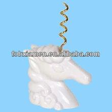 White Unicorn Custom Wine Opener Corkscrew