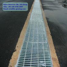 galvanized channel grate drain,galvanized trench grating,galvanized drain grating