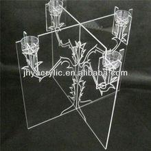 crystal ribbon acrylic candle holder