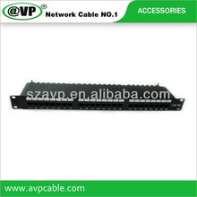 Factory provides Cat5e 24 port patch panel with competitive price