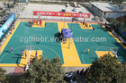 2013 Hot Sale Suspended Interlocking plastic Basketball court rubber Flooring