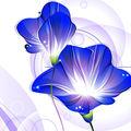 ฝันสีม่วงขายส่งดอกไม้ที่ทันสมัยภาพวาดสีน้ำ