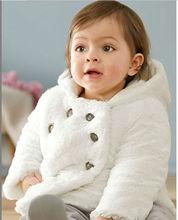 D90167K WHITE PLUSH CHILDREN'S COAT