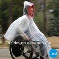 la moda de la bicicleta equipo para la lluvia