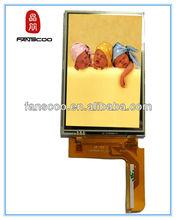 "5"" High quality 480x800 e cigarette ego did vedio wall digital clock 500 cd/m2 custom lcd display monitors"