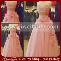 G201 New Pink Sweetheart Tulle Handmade Flower Maternity Prom Dresses 2014
