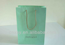 hign quality and cheap price green color shopping bags with twist handle