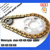 hot sale colored motorcycle chain,chain sprocket cheap motorcycle kits,transmission kit chain sprocket for motorcycle