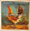 2013 novas pinturas a óleo de galos com bom preço