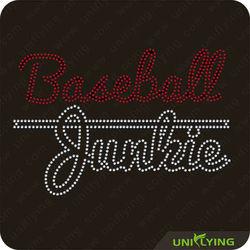 Baseball funs rhinestone transfer sports