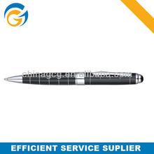 Black Grid Barrel Classic Metal Twist Ball Pen Metal Twist Customized Ball Pen
