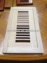 Unfinished red oak flush mounted Wood floor vent