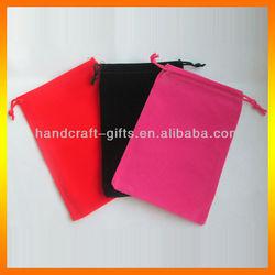 Custom High quality small velvet mobile phone bag