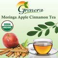 orgánica moringa manzana y canela té caliente para la venta