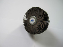 Remarkable Grinding! Abrasive Flap Wheel with Aluminum Oxide. Model: 80Grit, 76x25x6mm(3x1x1/4inch), R145Wheel