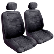 Black Regal Style Front Low Back Car Van Truck Seat Covers Set Universal