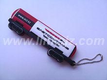 custom shaped pvc rubber 3D tank truck usb flash drives