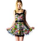 Sleeveless short custom skating dresses
