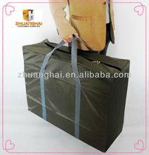 popular faddish green color 420D traveling handle bag