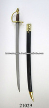High Carbon Medieval Steel Cutlass Sword with leather scabbard
