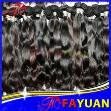 Brown de la armadura del pelo humano, 100% 6a remy india del cabello, No maraña no shed e ondulado del pelo gris indio
