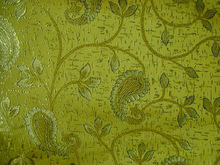 Brocade fabric with nice and fancy paisley design