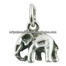 The Elephant 925 Sterling Silver Pendant ,Wholesale Animal Shaped Silver Jewelry