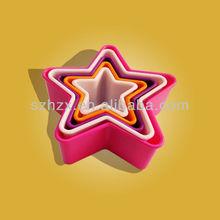 FDA&SGS Star Shape Plastic PP Mix-colored Cookie Press Set