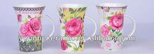 colourful flower choice beautiful printing 8oz mug ceramic for driking mug coffee mugs