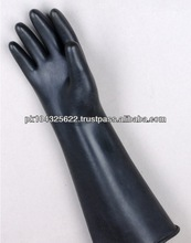 Low Price 18'' Black Heavy Duty Long Sleeve Rubber Gloves